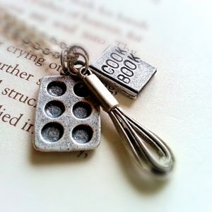 Sterling Silver Baking Charm Necklace Gift For Mom
